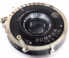 CARL ZEISS JENA Tessar 75mm 4.5 + Compur DF