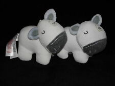 TWO PRIMARK EARLY DAYS COW SOFT TOY WHITE SLEEPING COW COMFORTER x 2
