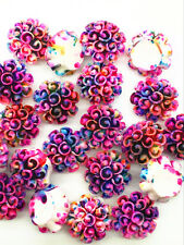 10pcs Purple Resin Geranium flatback Appliques For phone/wedding/crafts