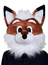 ADULT PLUSH FOX ANIMAL MASCOT FANCY DRESS COSTUME OVERHEAD MASK GIANT HEAD H1280
