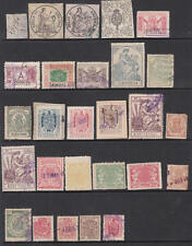 Spain pre-1945 Revenues hi val selection 27 diff stamps cv $98