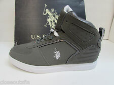 U.S. Polo Assn Size 11 M Gray Hi Top Sneakers New Mens Shoes