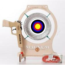 Pie Tin Target with Pistol from Magnum 12 Rubber Band Guns - FREE Shipping