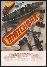 Publicité MATCHBOX jouet maquette jouet vintage  ad  1981