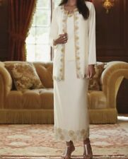 sz Large Wedding Formal Cruise Party 3PC Beaded Ivory Skirt Suit retail $189 new