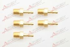 """5 pcs 4mm Male Brass Hose Barbs Barb to 1/8"""" NPT Pipe Male Thread"""