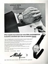 ▬► PUBLICITE ADVERTISING AD Montre Watch MIDO Powerwind (b) 1958