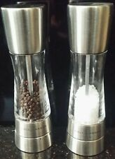 Cole and Mason Derwent model salt & pepper mill brushed stainless steel NEW