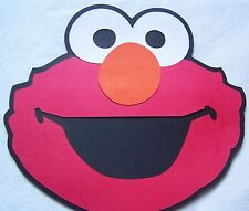 Large Elmo party decorations 6 in. face Sesame Street Set of 4