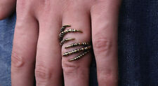 Vintage Dragon Claw Long Ring Gothic Punk Rock Animal Wrap Ring Adjustable BS-A