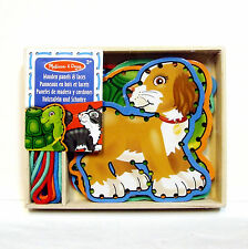 Lacing Toy Wooden Boards Pets Lace + Trace Melissa and Doug Threading Sewing 3+