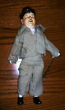 Oliver Hardy ceramic and cloth doll, Stan Laurel, 16 inches tall, Laurel + Hardy