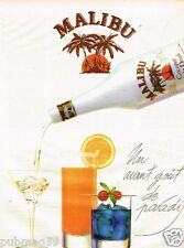 Publicité advertising 1986 Malibu Coconut Light Drink