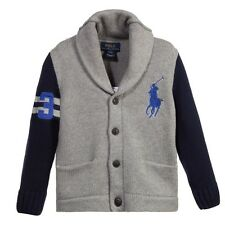 NWT Ralph Lauren Polo Boys Big Pony Cardigan Sweater (M 10 - 12)