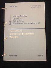 BRITISH ARMY GRENADE PAMPHLET M79, M203 SAS PARAS NORTHERN IRELAND IRAQ RIOT