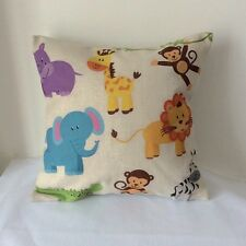 Cartoon Jungle Animal Cotton Linen Cushion Cover Throw Pillow For Home Decor B36