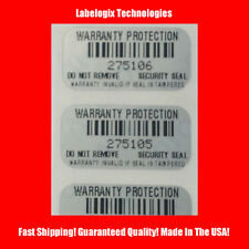 100 WARRANTY PROTECTION VOID SECURITY LABELS STICKERS GR8 4 XBOX PS3-1 X .50 IN.