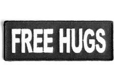 FREE HUGS EMBROIDERED PATCH