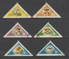 POLAND #842-847 Used TRIANGLES Showing Various MUSHROOMS 1959