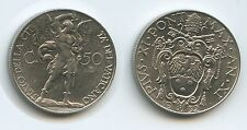 G8546 - Vatikan 50 Centesimi 1932-XI KM#4 XF Pius XI. 1922-1939 Vaticano