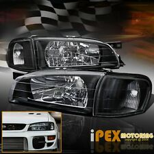 New 1995-2001 Subaru Impreza JDM Black Headlights + Black Corner Signal Lights