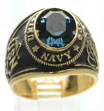 Men's Gold Plated US Navy Ring Size-11 '