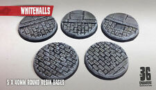 Whitehalls 5 x 40mm round resin cobblestone bases