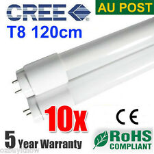 10x CREE T8 LED TUBE 120cm 18w COOL WHITE FROSTED BULB SAA