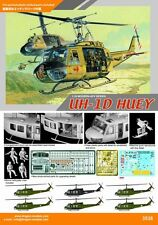 "1/35 Dragon Models 3538 - Vietnam Era UH-1D Helicopter ""Huey""  Plastic Model Kit"