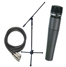 Shure SM57 Mic W/Boom Stand and 25ft Mic Cable