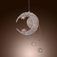 Romantic Home Decor Modern Moon & Star Pendant Light for Living Room Dining Room