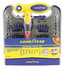 Goodyear 45 Piece Ratchet T-Driver Screwdriver Set GY900458 Great Quality Tools