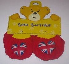 New BUILD-A-BEAR UNION JACK HEART SLIPPERS Shoes Blue Red UK EXCLUSIVE England