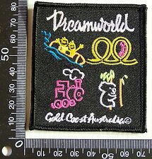 VINTAGE DREAMWORLD GOLD COAST EMBROIDERED SOUVENIR PATCH WOVEN CLOTH SEW BADGE