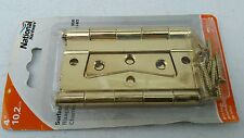 "2 PACK  Stanley Brass 4"" Surface Mounted Bifold Closet Interior Door Hinges"