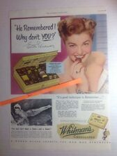 Vintage 1952 ESTHER WILLIAMS Whitman's Chocolates Advertisement Swimmer