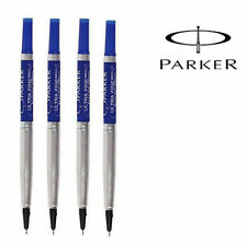 4 x Parker Quink Roller Ball Pen Refill Blue Ink Ultra Fine UF Nib - New Stock