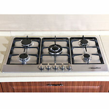 """34"""" Fashion Electric Stainless Steel Built-in Kitchen 5 Burner Gas Hob Cooktops"""
