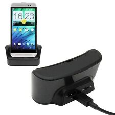 Desktop Sync Charging OTG Charger Cradle Station Dock + Cable For HTC One E8 M8