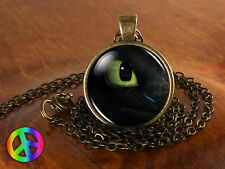 How to Train your Dragon Toothless Eye Necklace Pendant Jewelry Toy Gift Present