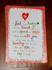 """Blue Mountain Arts Greeting Card """"I Feel Very Lucky to Have Found You"""" B2GO SALE"""