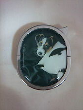 Jack Russell Terrier Lighter - Oval Refillable Gas Lighter in Velvet Gift Pouch