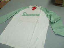 605019M02P T-SHIRT LONG SLEEVE: LINE VESPA: WHITE / GREEN SIZE S