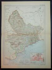 1886 impression antique carte en couleurs de la France Alpes Maritimes Carte Française