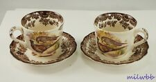 Vintage Royal Worcester Palissy Game Series Cup & Saucer Sets Afternoon Size - 2