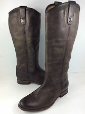 $380 FRYE Melissa Button Leather Riding Boot SLATE Vintage 10 B US