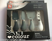 Richardson Sheffield Original Mono Set of 4 Cheese Knives Stainless Steel Boxed