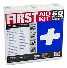 NEW 50 Person First Aid Safety Kit Metal Box Prepared Medical Emergency Supplies