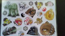 Angry bird star wars characters sticker 2 sheets with 33  stickers