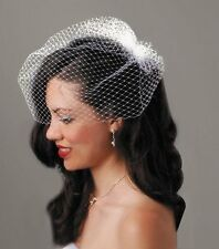 NEW David Tutera Birdcage Veil with Comb  Cream  18 inches FREE SHIPPING